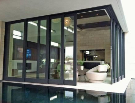 Multi Slide Pocket Door Located In Bighorn Country Club, Palm Desert,  California